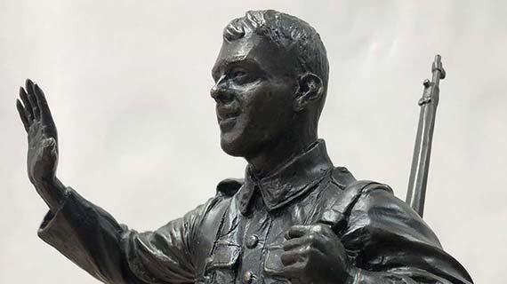 Au revoir - statue en bronze