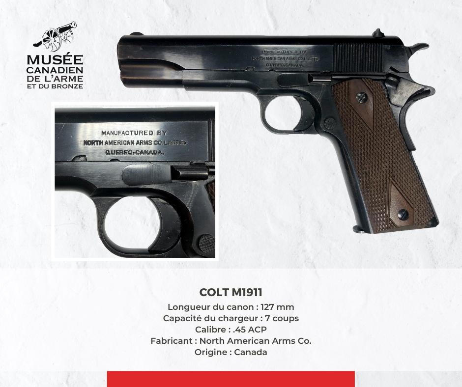 Description arme M1911